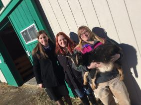 Draper at Unity College Sustainable Agriculture Program Farm