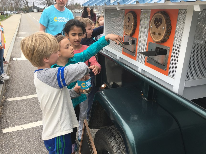 Falmouth Elementary Students Practice Math and Service Learning Through World of Change Activity