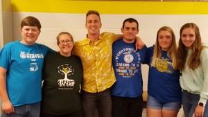 """Base Camp"" Trainees Graham Berry, Emily Jackson, Alex Morrissey (Trainer), Brody King, Emily Jackson, Ava Cameron"