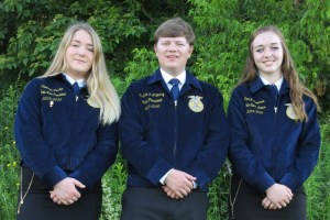 Maine FFA State Officer Team – Camryn Curtis (Vice President), Graham Berry (President), Ava Cameron (Secretary-Treasurer)