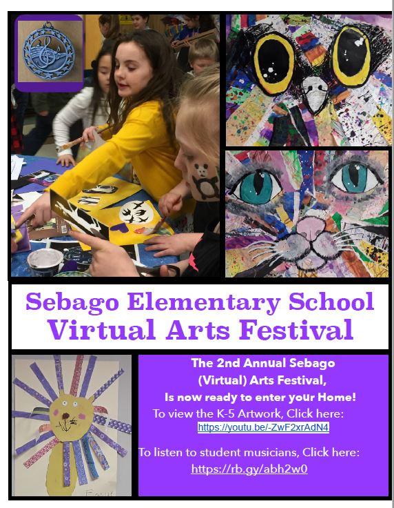 Sebago Elementary Creates Virtual Arts Festival