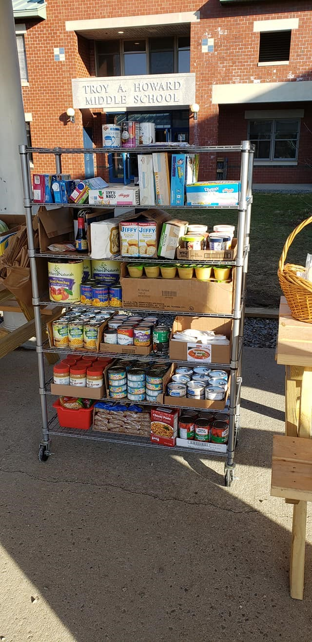 Troy Howard Middle School Expands Food Pantry with Community Caring Cart