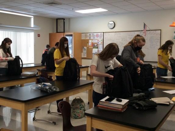 Ashland FFA students assemble homeless client backpacks