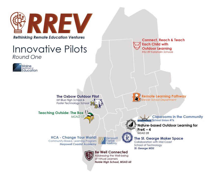 MEDIA RELEASE: Maine DOE Announces Over $2M in First Round of Innovative RREV Pilot Awards