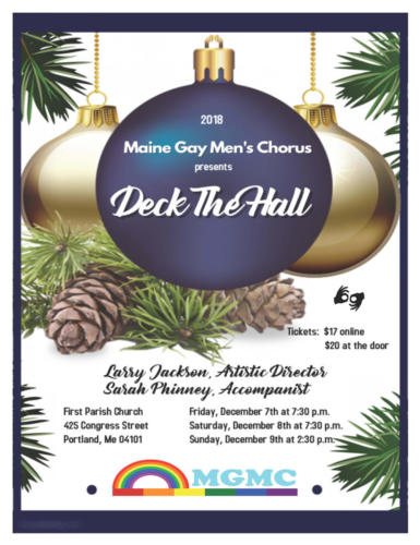 "Holiday Season 2018 ""Deck The Hall"" Poster"
