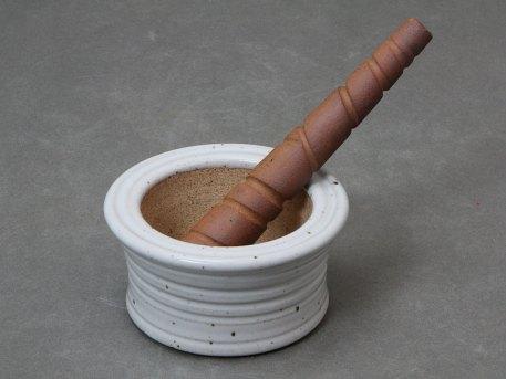Stoneware Mortar and Pestle