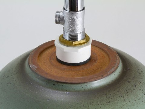Rimmed Bath Sink Showing Drain Assembly