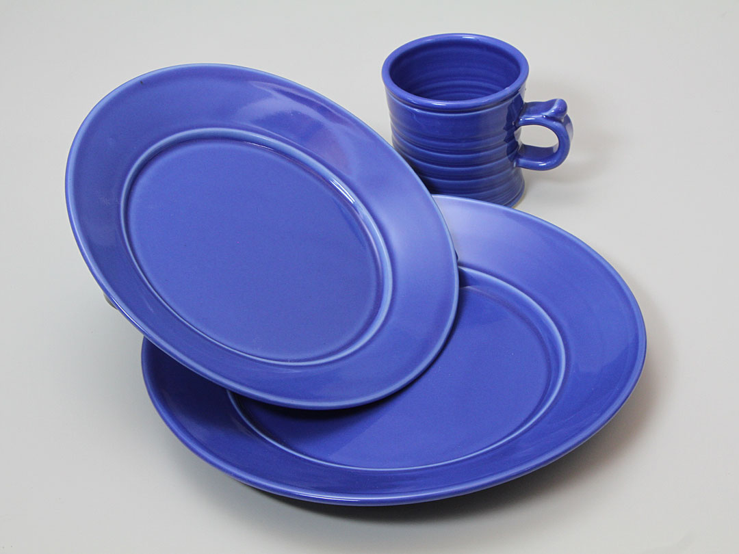 Dark Blue Celadon Dinner Set