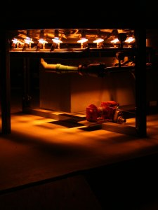 Murrow top hat kiln night firing