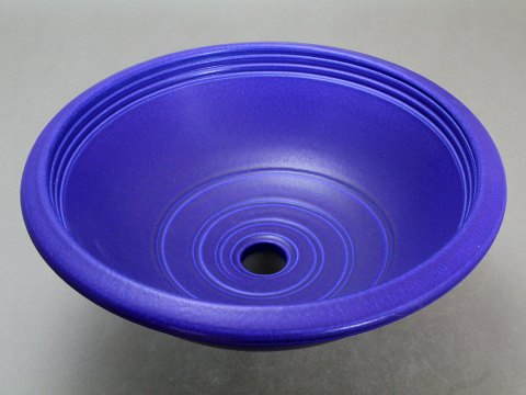 Porcelain Rim Sink — Blue Cobalt