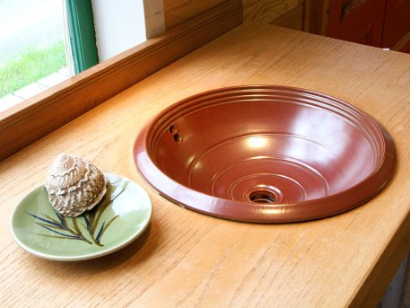 Porcelain Rim Sink with Overflow