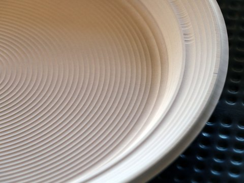 CNC Milled Dinner Plate Model Detail