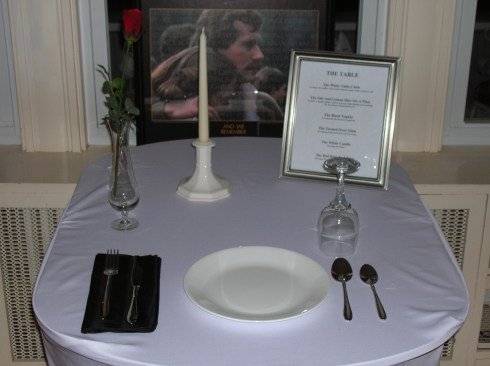The POW table at the old little museum