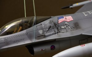 """The art on an F-16 during """"Operation Iraqi Freedom""""."""