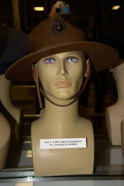 World War I US Marine Corp enlisted campaign hat worn by Private Frederick H. Burbank.
