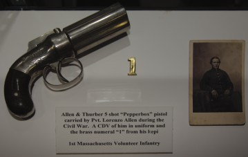 Allen & Thurber 5 shot ''Pepperbox'' pistol carried by Private Lorenzo Allen during the US Civil War