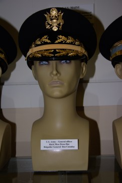 US Army General officer black mess dress hat worn by Brigadier General Don Canaday.