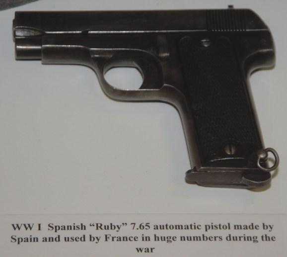 World War I Spanish ''Ruby'' 7.65 Automatic Pistol
