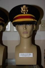 US Army Junior Grade Artillery officer black mess dress hat worn by 1st Lt. James E. Corey.