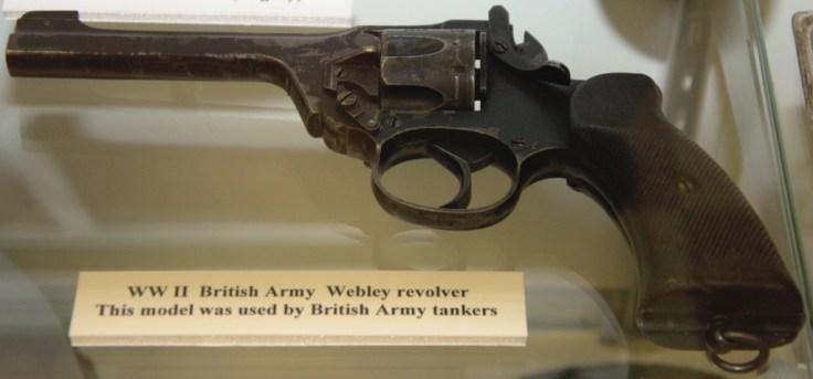 World War II British Army Tanker Webley Revolver