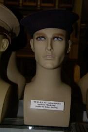 US Navy enlisted work hat blue issue ''Black Gang'' worn by MoMM 2/C Robert Maclellan.