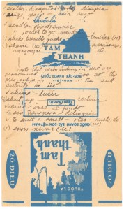 POW Spanish Lessons on Vietnamese cigarette wrapper
