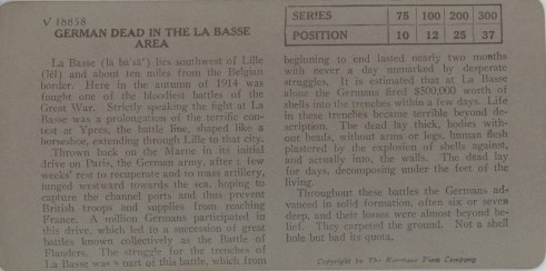 German Dead in the La Basse Area
