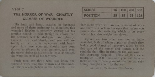 The Horror of War - Ghastly Glimpse of Wounded