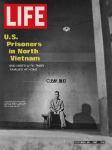 Life magazine cover of Cdr Paul Galanti, USN