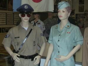 A 1/C Sam Longanecker, USAF & PFC Lynda Keene, US Army