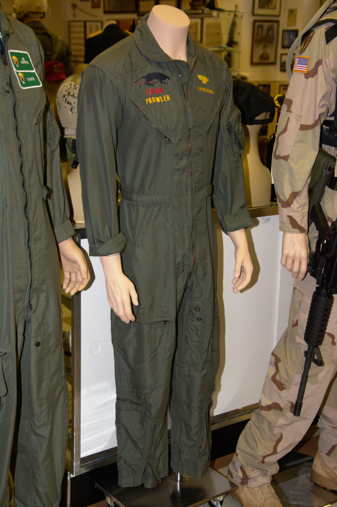 Northrop Grumman EA-6B Prowler flight suit worn by Ted Meserve