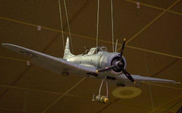 SBD-3 Dauntless in dive mode.