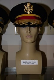 US Army Field Grade Artillery officer black mess dress hat worn by Col. Floyd H. Kinnan.