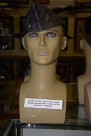 World War II US Navy officer's overseas cap in gray.