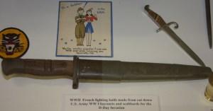 World War II French Fighting Knife Made From Cut Down US Army World War I Bayonet