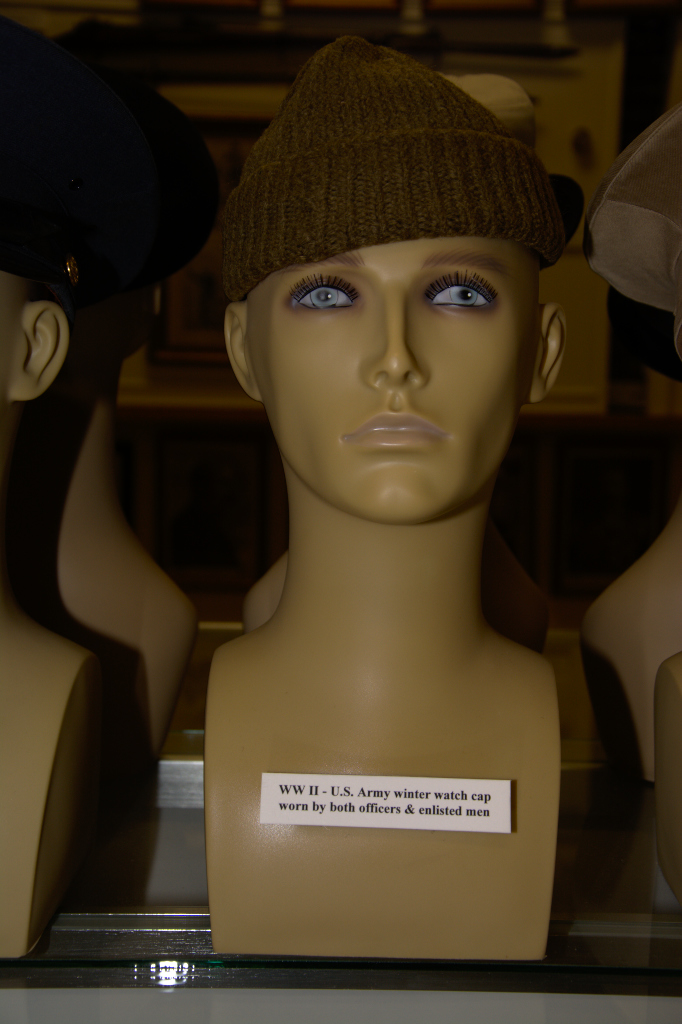 Worrld War II US Amry winter watch cap worn by both officers and enlisted men.