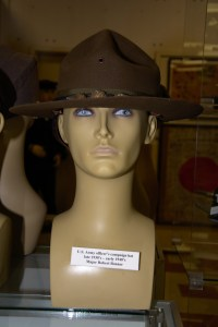 US Army officer's campaign hat worn by Major Robert Bonner during the late 1930s to early 1940s.