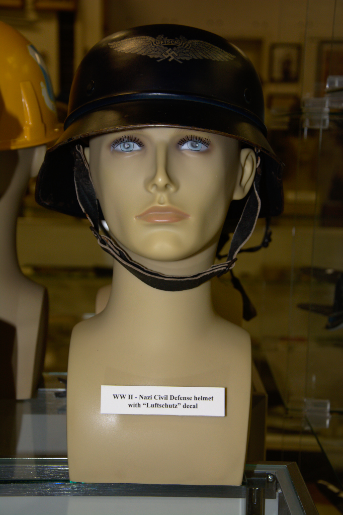 World War II Nazi Civil Defense helmet with ''Luftschutz'' decal