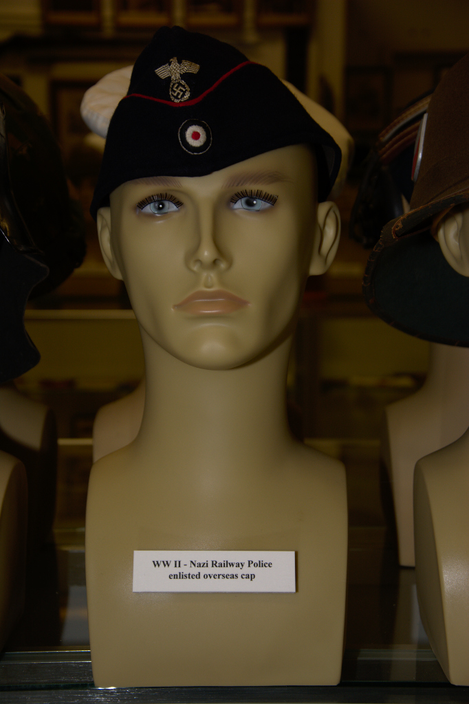 World War II Nazi Railway Police enlisted overseas cap