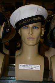 US Coast Guard enlisted summer white hat in the Donald Duck style from the 1950s to 1960s.