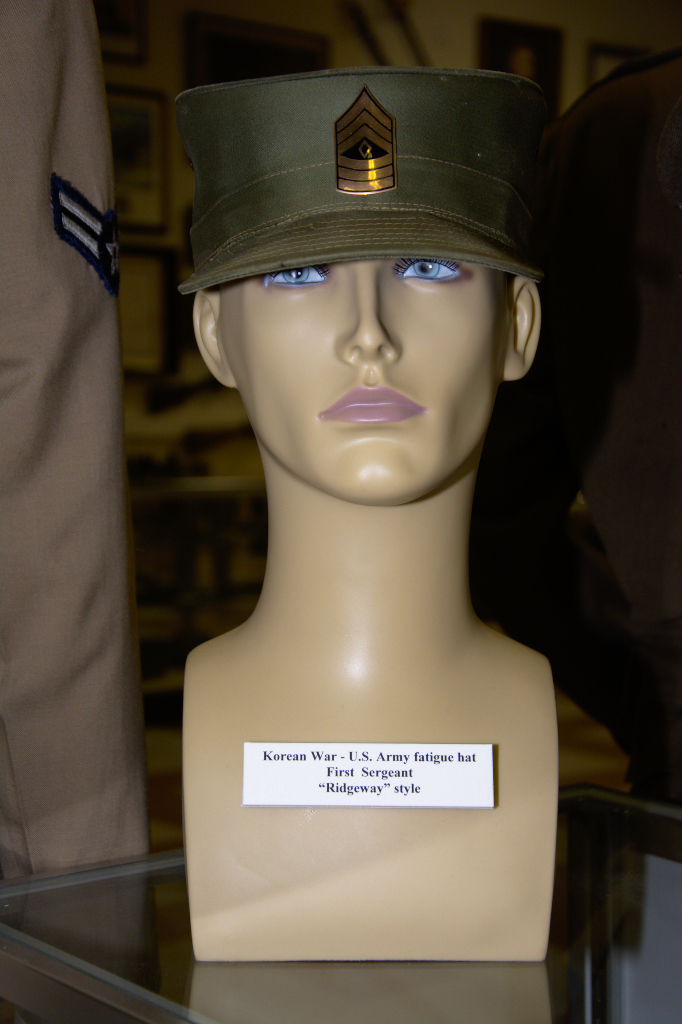 Korean War US Army fatigue hat First Sergeant ''Ridgeway'' style