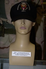 HMX-1 Presidential Helicopter Squadron US Marine Corps flight crew cap worn during President Reagan era.