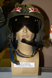 Vietnam War US Army helicopter pilot's flight helmet from the 71st Assault Helicopter Co. - ''Firebirds''.