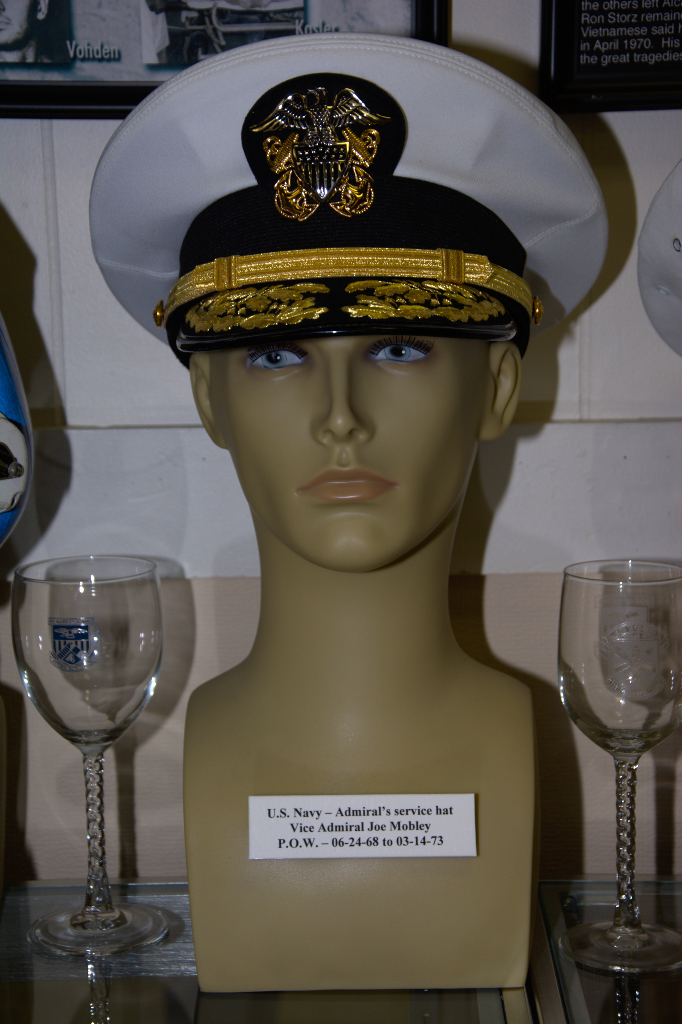 US Navy Admiral's service hat worn by Vice Admiral Joe