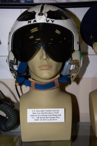 US Navy pilot's helmet worn by Major General Bud Breckner, POW 07-30-1972 to 03-29-1973.
