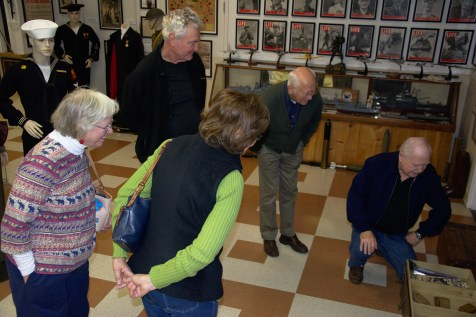 Cdr Robert S. Fant is joined by Becky Fant, and Ruth & Mike Bocce in a tour led by Curator Lee Humiston
