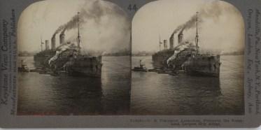 U.S. Transport Leviathan Largest Ship Afloat