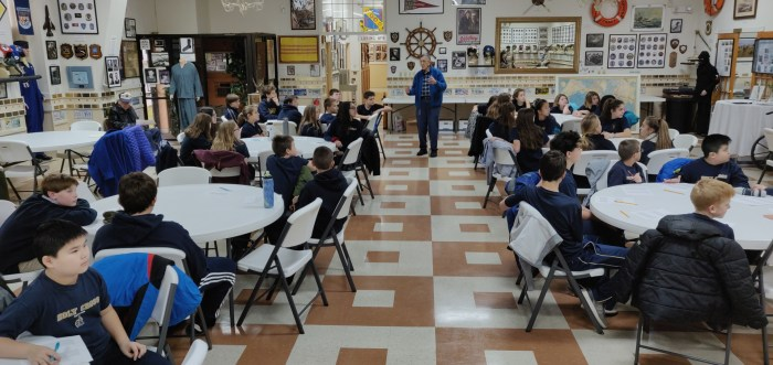 Holy Cross School students visit the museum