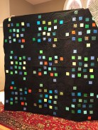 Quilt made by members using Stephanie's fabric