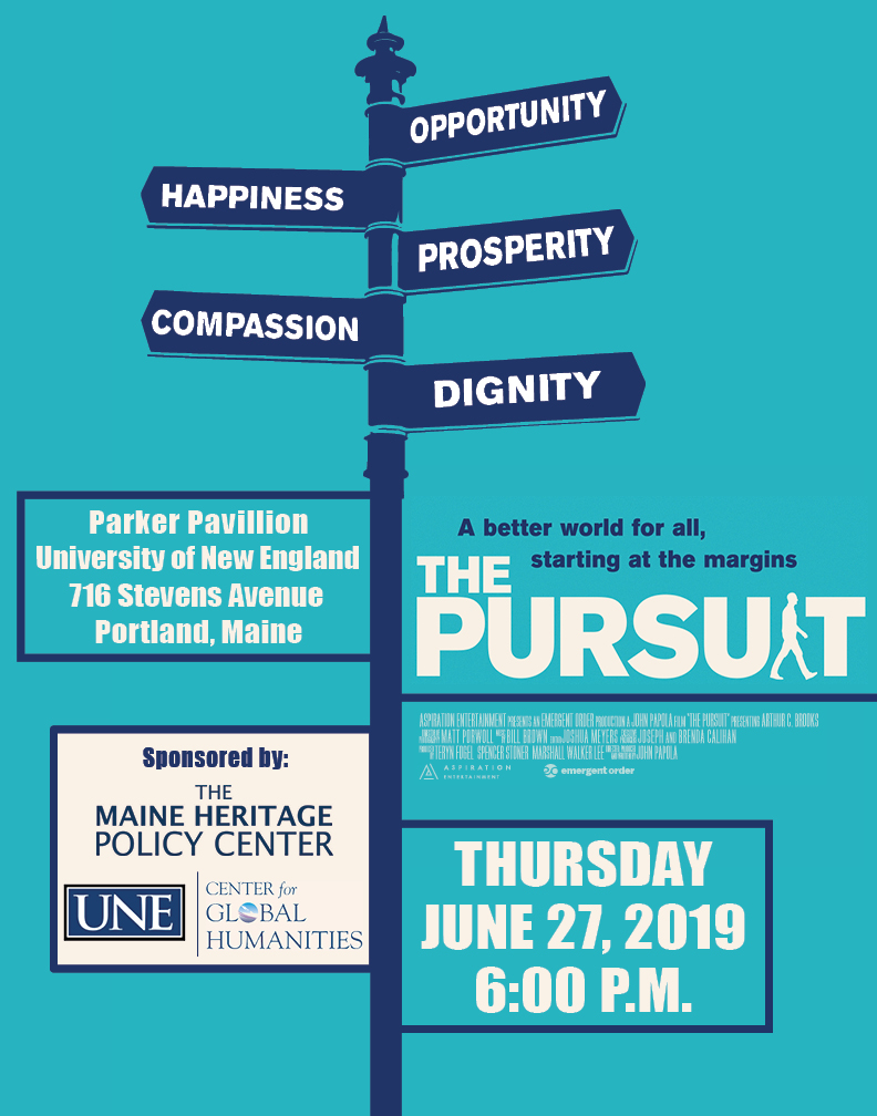 """Screening of """"The Pursuit"""" at UNE Portland Campus – The ..."""
